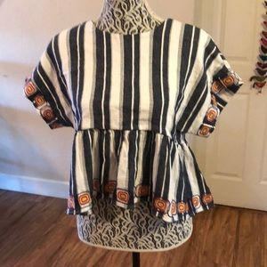 Maeve embroidered kimono top Anthropologie